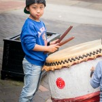Newcastle China Week boy with drum