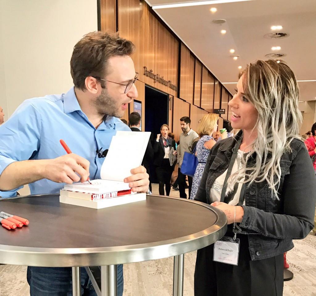 Simon Sinek talks to Bec - Sydney